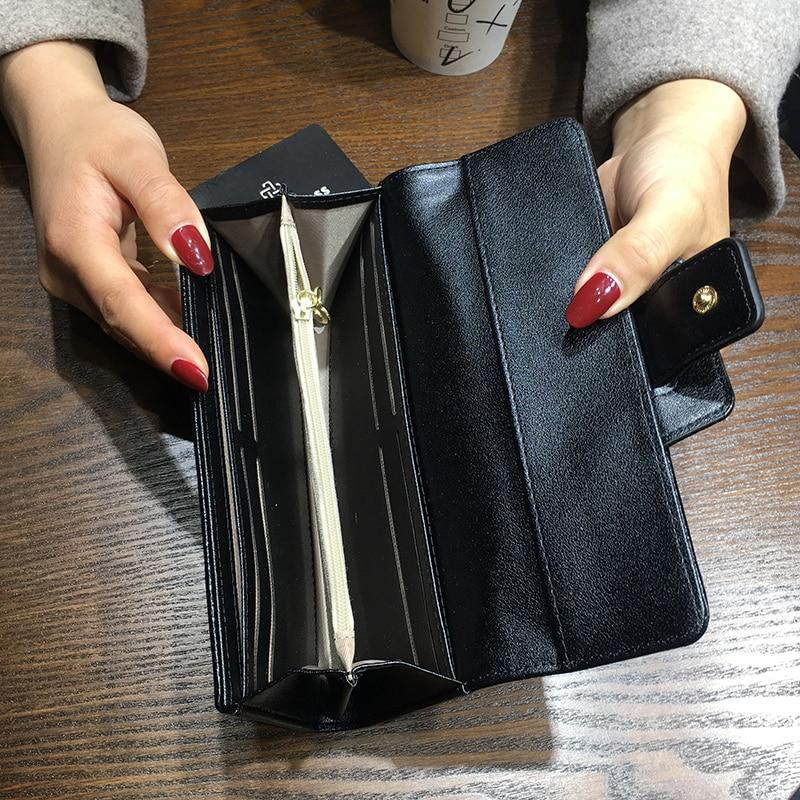 New Korean Ladies Wallets Fashion Long Short Three Fold Clutch Bagintothea-intothea