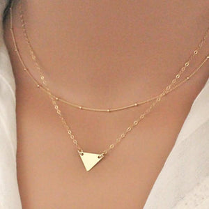 Geometry triangle necklace Trendy Necklace For Women Chokers Necklaces XL217intothea-intothea