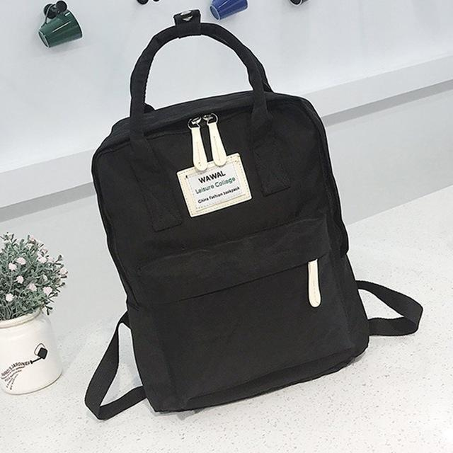 Cute Canvas fashion Backpack female kanken backpack design for girls leisure travelintothea-intothea