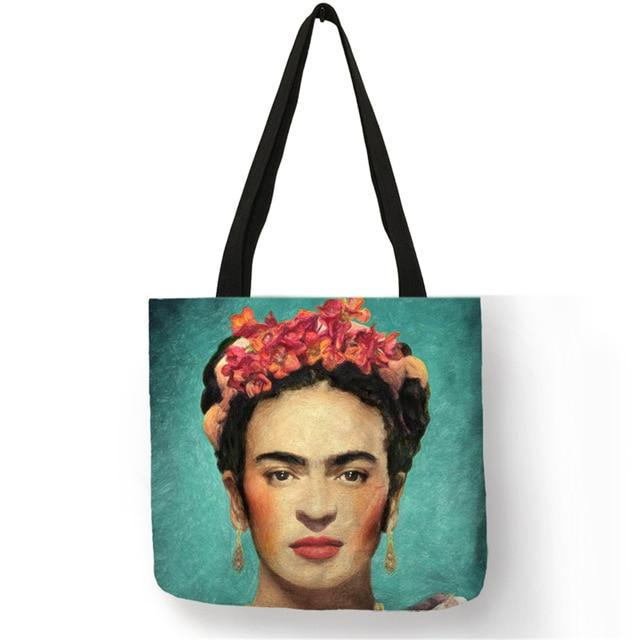 Customize Artist Printing Tote Bag For Women Casual Totes Linen Bagsintothea-intothea