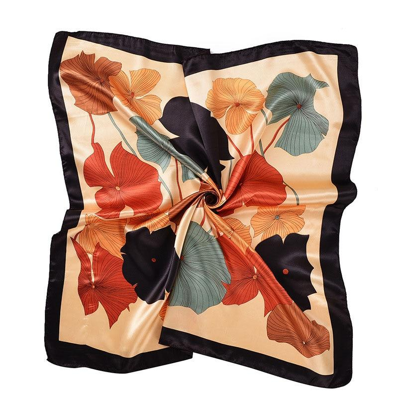 Women's Square Silk Scarves 90*90cm Fashion 2018 Ladies Satin Printed Scarf Shawlintothea-intothea