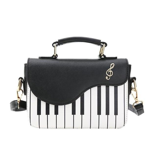 Piano Pattern Women Leather Crossbody Messenger Handbag Women Flap Shoulder Bag Bolsaintothea-intothea