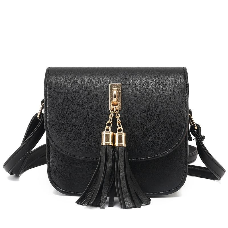 Fashion 2017 Small Chains Bag Women Candy Color Tassel Messenger Bags Femaleintothea-intothea