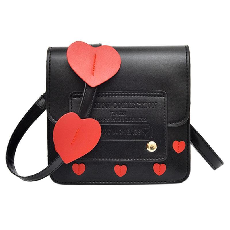 2018 Cute Heart Women Girls Lady Shoulder Bag Messenger Bags Leisure Travelintothea-intothea
