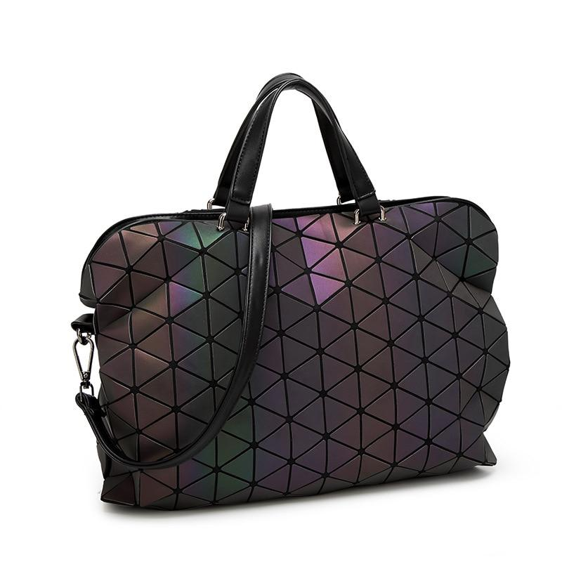 luxury handbags women bags designer Laptop bag Luminous Geometric Women's Handbags Plaidintothea-intothea