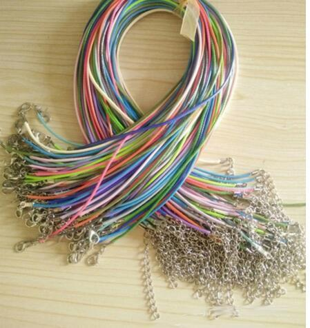 20pcs 45/60cm Adjustable DIY Handmade Leather Braided Rope Necklaces & Pendant Charmsintothea-intothea