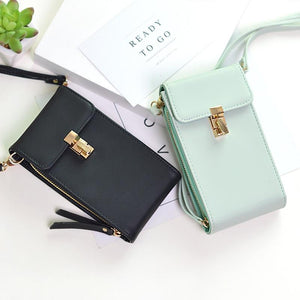 2019 New Fashion PU Leather Phone Women Wallet Shoulder Bag Coin Cardintothea-intothea