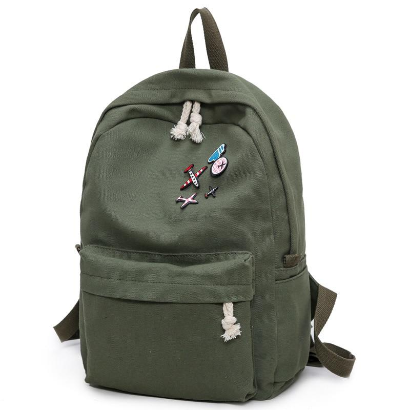 Canvas backpacks 2019 student fashion large female travel backpack for school suppliesintothea-intothea