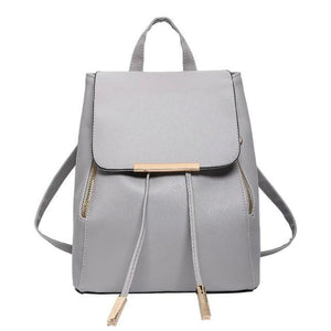 2018 Fashion Women Black Backpack Small Female PU Leather Backbag Japanese Streetintothea-intothea