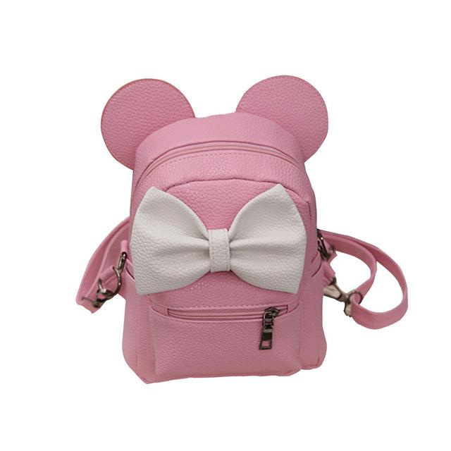 2019 New Mickey Backpack Pu Leather Female Mini Bag Women's Backpack Sweetintothea-intothea