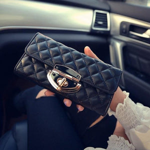 Long Solid Luxury Brand Women Wallets Fashion Hasp Leather Wallet Female Ladiesintothea-intothea