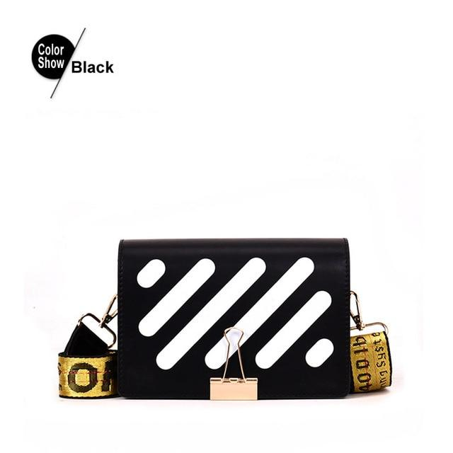 Fansiman 2019 New Pu Stripe Messenger Bags Women Messenger Bags Fashion Shoulderintothea-intothea