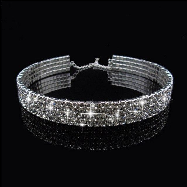 Peacock Star fashion ultra-luxury Trendy Wedding Party Prom Choker Necklace 8intothea-intothea