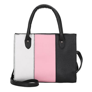 2019 Summer Women Hit color Leather Handbags Casual Tote bags Crossbody Bagintothea-intothea