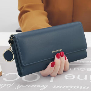 Fashion Leather Wallet Long Wallets and Purses Long Style Designer Purse Cardintothea-intothea