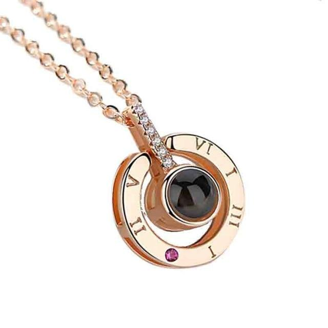 Dropshipping Rose Gold Silver 100 Languages I Love You Shaking Sounds withintothea-intothea