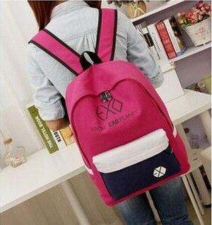 2019 new women's colorful canvas backpacks backpacks student bags school girl boyintothea-intothea