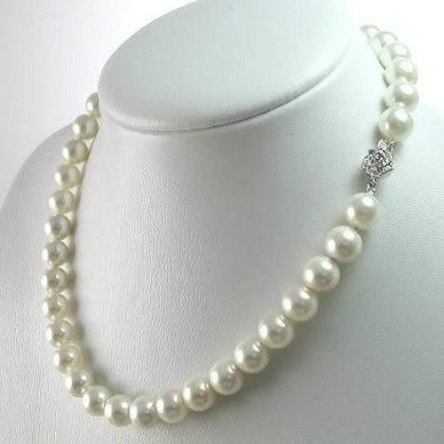 2019 (min order) Hot 8mm White Akoya Shell Pearl Necklace Pearl DIYintothea-intothea