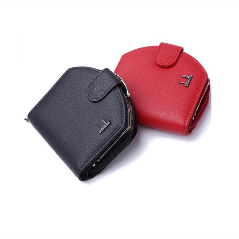 Fashion Solid color Women Wallet Leather,High Quality Zipper Hasp Coin shortintothea-intothea