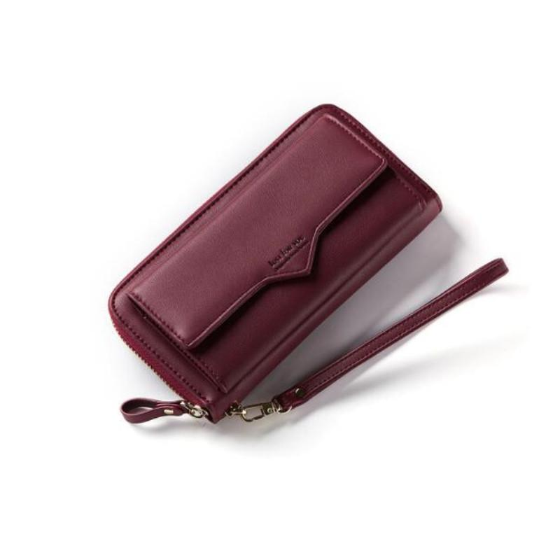 2018 New Women Leather Wallets Female Solid Purses Woman Phone Cionintothea-intothea