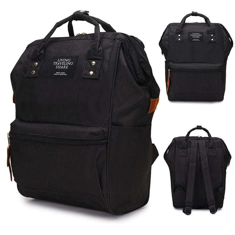2019 Backpack High-capacity Knapsack Women Backpack Computer Pure Color Teenager Backpack Femaleintothea-intothea
