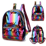 2019 Color Laser School Backpack For Girl Cool Design Mini Small Womenintothea-intothea