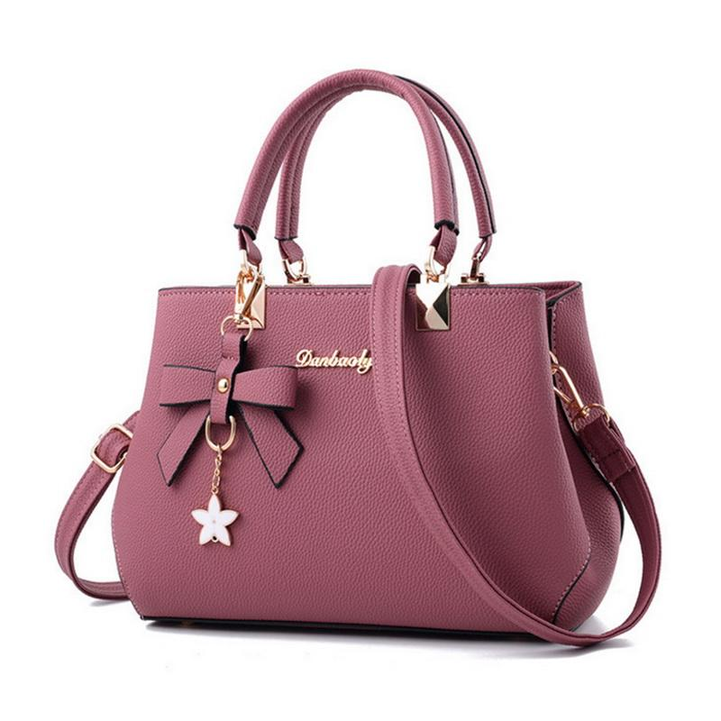Elegant Handbags Women 2018 Designer Luxury Shoulder Bag Plum Bow Sweet Messengerintothea-intothea