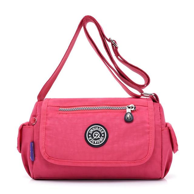 Women Messenger Bags Female Shoulder Bags Solid Nylon Waterproof Small Clutch Femaleintothea-intothea