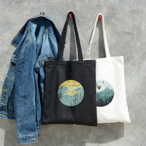 Cartoon Printing Zipper Canvas Shoulder Bags 2019 New Arrival Hot Fashion Femaleintothea-intothea