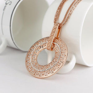 Long Necklaces For Women Collier Femme Geometric Statement Pendant Necklace Maxi Crystalintothea-intothea