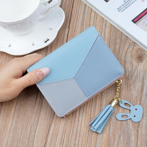New Arrival Wallet Short Women Wallets Zipper Purse Patchwork Fashion Panelled Walletsintothea-intothea