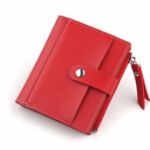 Fashion Thin Wallet Women Leather Wallets Long Red Purse Female Zipper Phoneintothea-intothea