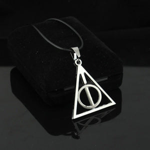 Hearts Q Jewelry Movie Harri Potter Deathly Hallows Rotatable Triangle Circle Pendantintothea-intothea