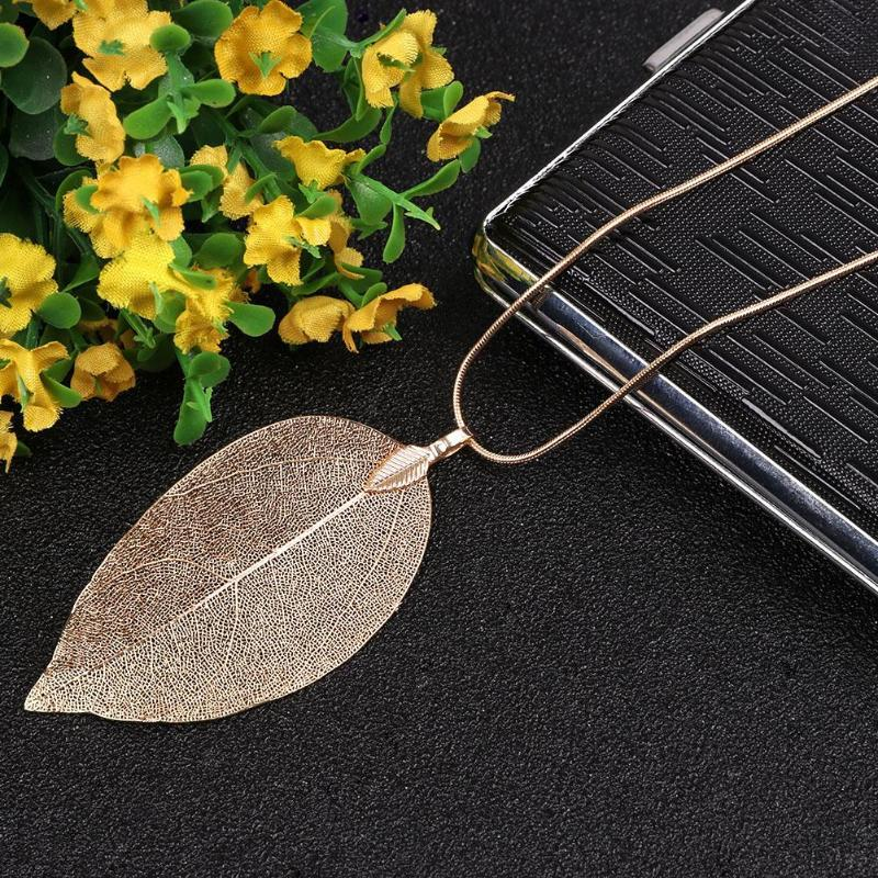 2018 Sweater Coat Necklaces Ladies Girls Special Leaves Leaf sweater Pendant Necklaceintothea-intothea