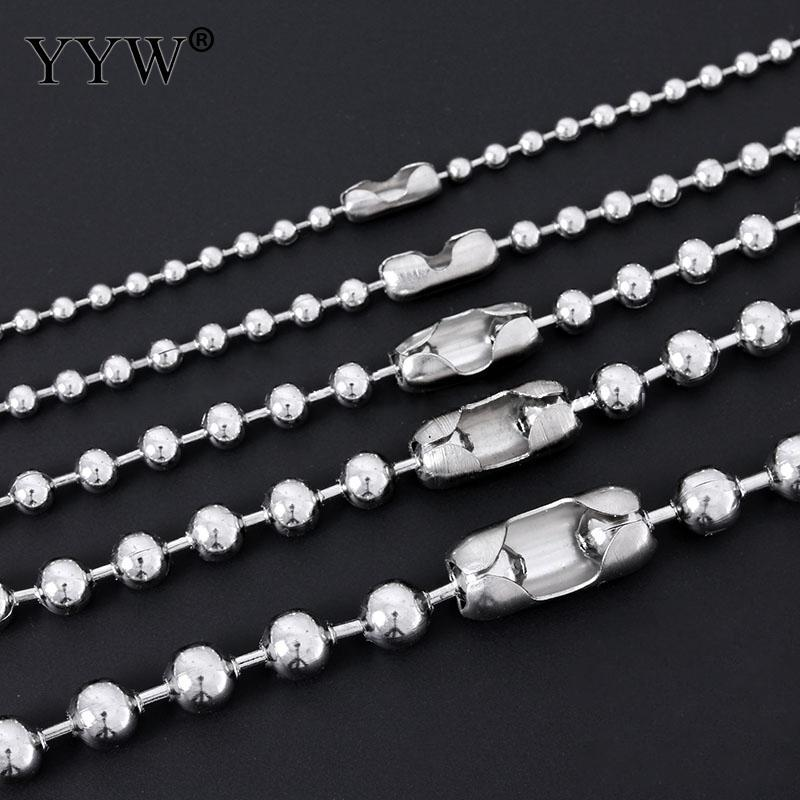 New Punk Simple Strand 1.5mm to 6mm Dia Ball Beaded Chainintothea-intothea