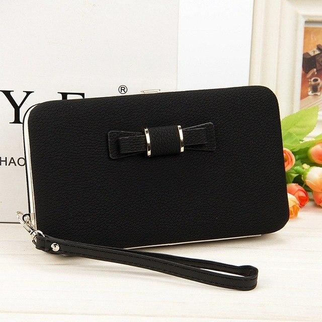 2019 Purse Bow tie wallet female big capacity card holders cellphone pocketintothea-intothea