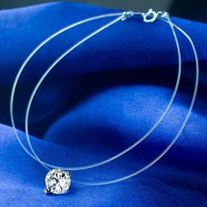 2017 Crystal Zircon CZ Necklace & Pendants Choker Invisible Transparent Fishing Lineintothea-intothea