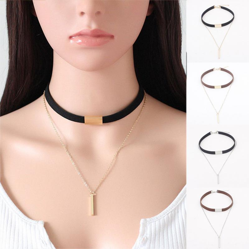 1PC Women's Punk Velvet Choker Necklace Pendant Chain Chocker Newintothea-intothea