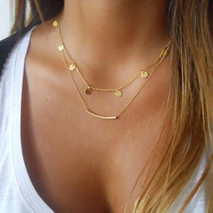 Surou Western Ornaments Fashion Double Necklace Female Clavicle Chain Simplicity Street Snapshotsintothea-intothea