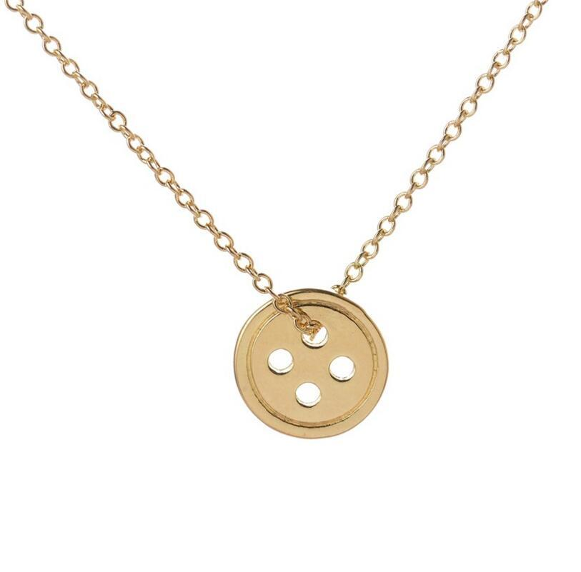 Hot Selling Gold Lucky Button choker Jewelry Women Pendant Necklace Pinocchio Necklacesintothea-intothea