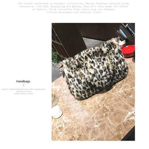 Handbag for Women Leopard Bag Designer Luxury Female Winter Ladies Crossbodyintothea-intothea