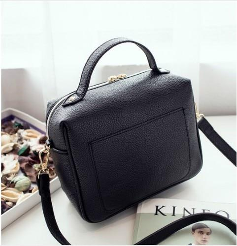 women bags New Fashion Pu Leather Solid Women's Handbags Ladies Shoulder Messengerintothea-intothea