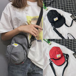 Women's Fashion Hats Bag Patent Oxford Leisure Shoulder Crossbody Phone Bag Newintothea-intothea