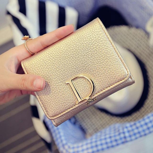 JOYIR Brand Short Women Wallet New Letter Female Purse Women's Wallet Famousintothea-intothea
