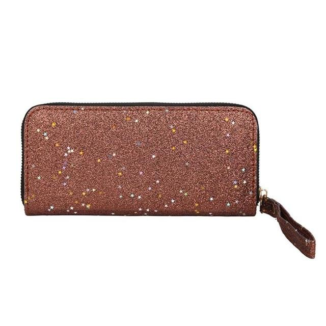 Shining Women Sequins Glitter Wallets High Quality Clutch Bags Long Purse Cardintothea-intothea