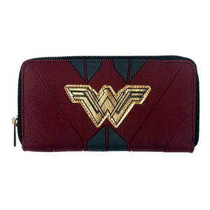NEW comics wallet Wonder Woman Zip Around Wallet long Fashion Lady Partyintothea-intothea