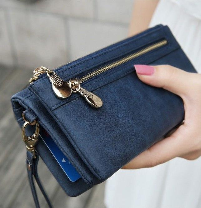 2018 Fashion Women Large Capacity Leather Wallets Lady Long Big Zipper Purseintothea-intothea