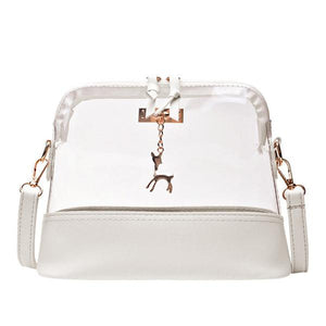 Shell Handbag Collection 21 Styles Fawn Leopard Print Transparent PU Leather Bagintothea-intothea