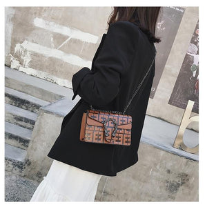 New Fashion High Quality brand leather bag chain Shoulder Bag Woman Famousintothea-intothea