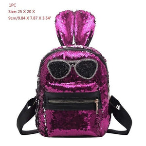 1/2pcs Backpack for Teenage Girls Fashion Sequins Backpacks Bling Students School Bagintothea-intothea